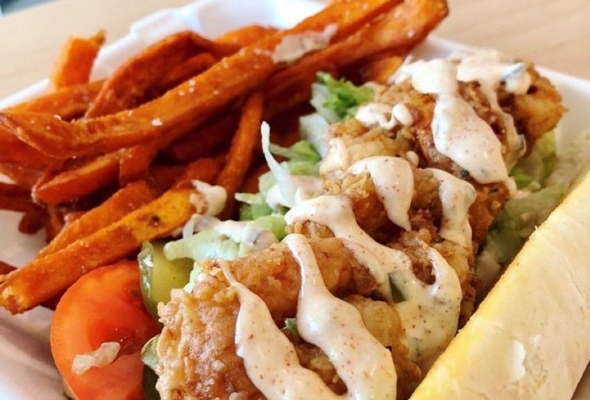 Just a quick trip to the Moore School can transport you near or far. The Global Café features flavorful, around-the-world dining with flavors of Brazil, South Africa and Greece. If you're after a southern lunch, enjoy this shrimp po boy with an international twist.