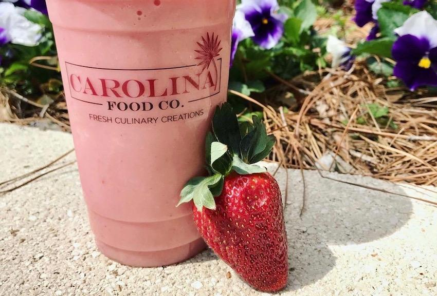 Satisfy your sweet tooth with a treat like this strawberry smoothie from Carolina Creamery. Carolina Creamery offers hand dipped, homemade ice cream with all of your favorite toppings mixed in. The Creamery also offers bottled beverages, salty snacks and more.