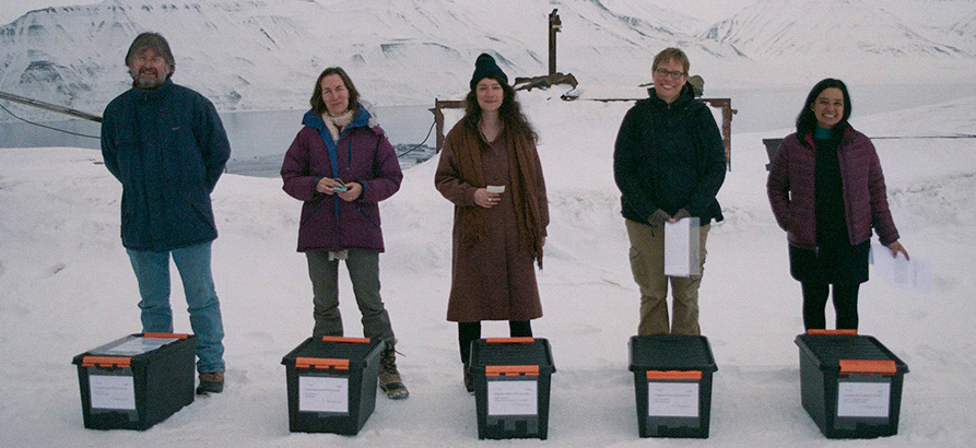 Artists in Svalbard, Norway