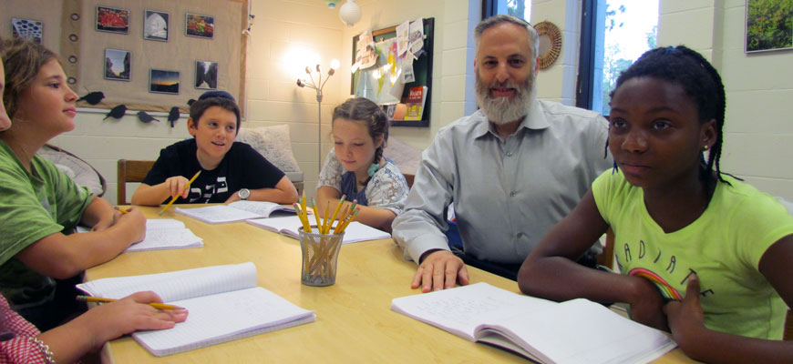 Rabbi Muller with students