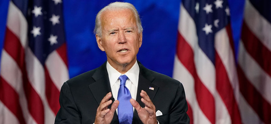 Biden accepts the Democratic nomination on Aug. 20, 2020