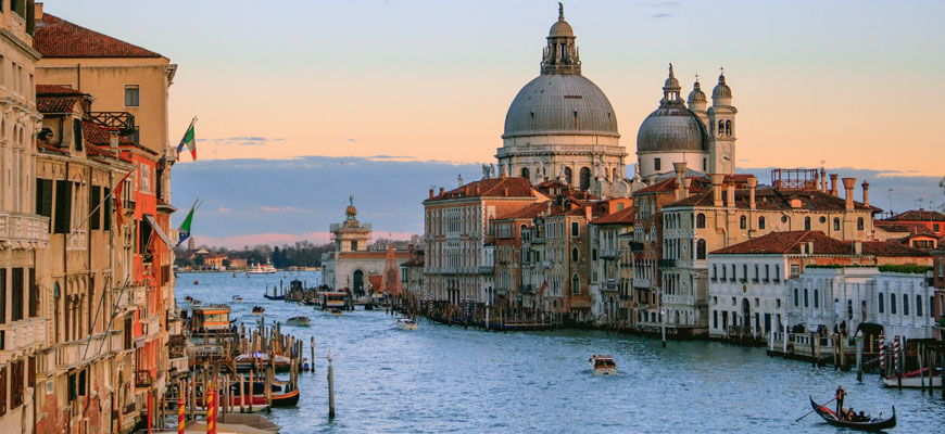 venice buildings and canals