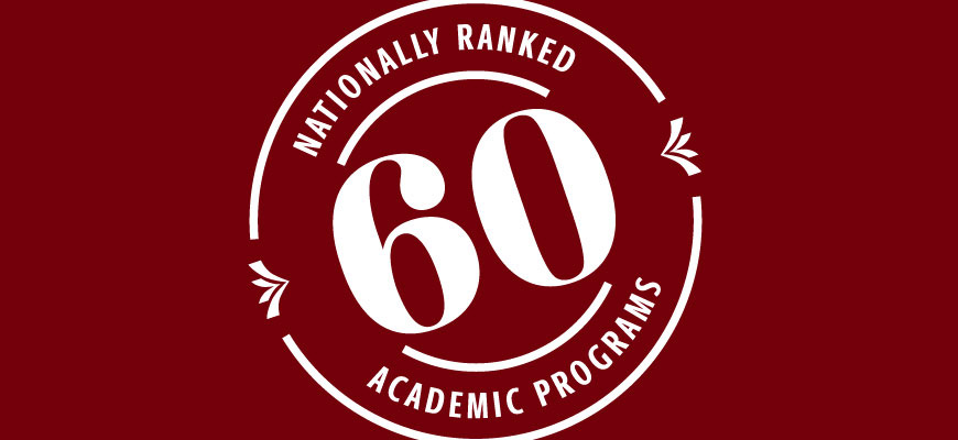 UofSC has more than 60 ranked programs