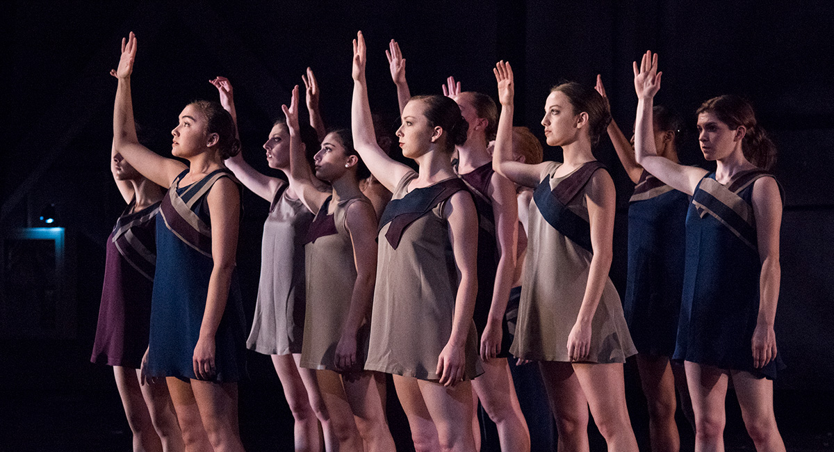 Dance company performs honor and ash