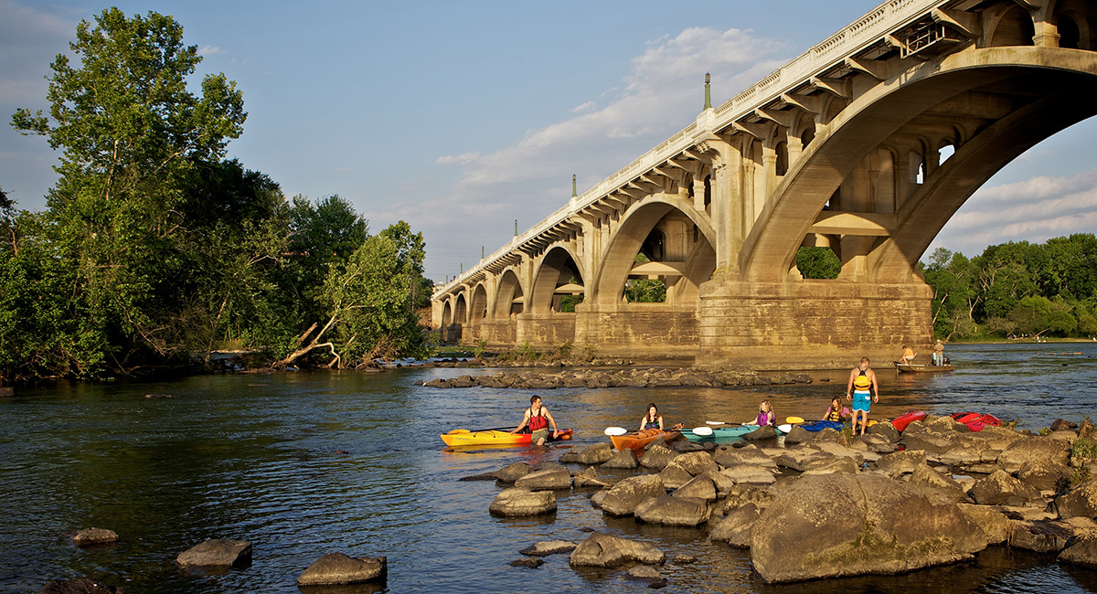 kayakers on the Congaree River