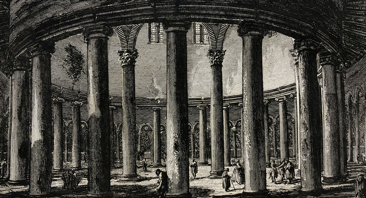piranesi drawing of a rotunda