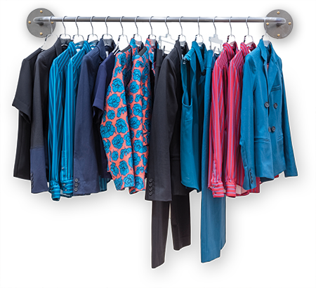 clothing rack from the Ardent store
