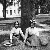 co-eds on the horseshoe circa 1898