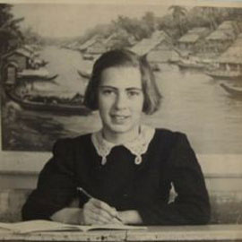 Holocaust survivor Eva Schloss as a child