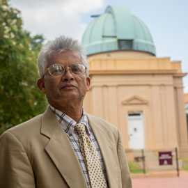 Astronomy and physics professor Timir Datta