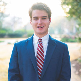 A portrait of Luke Rankin, our 2019 student body president.