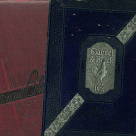 carolina yearbook covers from previous years. The prominent volume in the image is the 1931 cover that says
