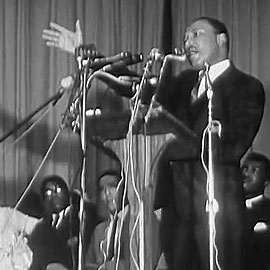 Martin Luther King speaks in Charleston in 1967
