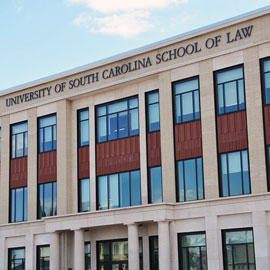exterior photo of the University of South Carolina law school