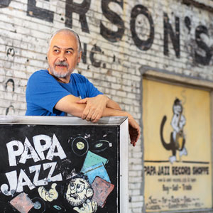 Tim Smith outside Papa Jazz