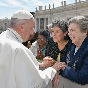 Sister Carol Keehan and Pope Francis