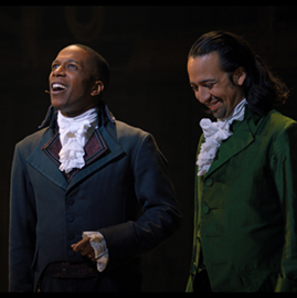 Leslie Odom Jr. and Lin-Manuel Miranda