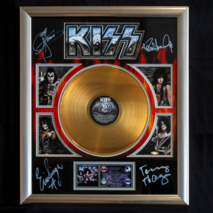 framed KISS gold record