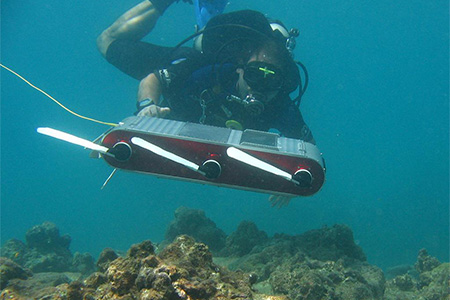 Rekleitis underwater with robotic probe