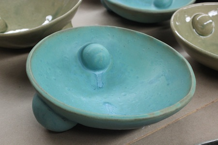 turquoise platter by VIrginia Scotchie