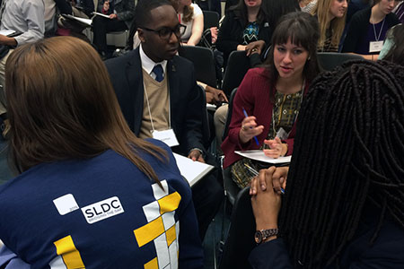 students network at the leadership and diversity conference