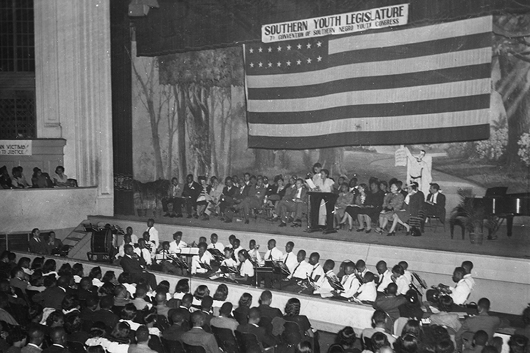 W.E.B Dubois addressed youth in Columbia in 1946