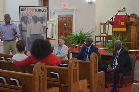 Civil rights leaders inside Zion Baptist