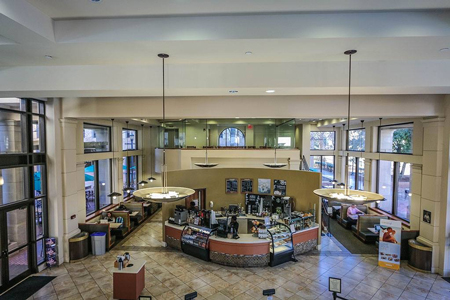 Bird's-eye-view of Colloquium Cafe