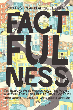 Winning book cover for Factfulness