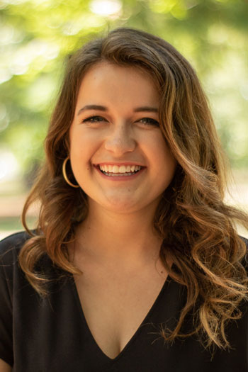 A close up headshot of Whitney Garland, a junior social work major at UofSC.