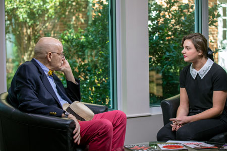 Student interviews James Ellroy