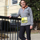 Sally Bartelmo, a civil engineering graduate student, is also on a quest to run a marathon in each of the 50 states before the age of 30.