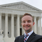 It has been a momentous year for the Supreme Court of the United States. It's also been a big year for alumnus Andrew Bentz, who has spent that time in a coveted position at the highest court.