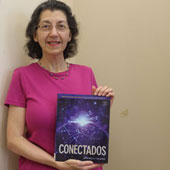Patti Marinelli and her new Spanish textbook, Conectados
