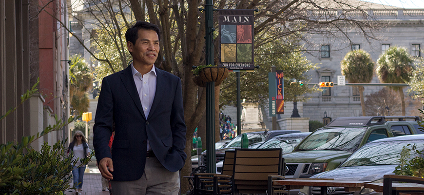 Dean Haemoon Oh on Main Street in Columbia