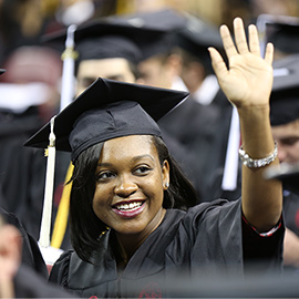 African-American student at graduation